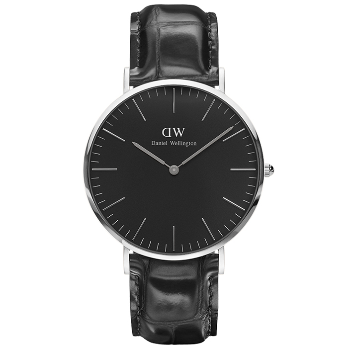 Daniel Wellington Silver Black Edition Classic Reading 40,00mm DW00100135 DW00100135 Ατσάλι