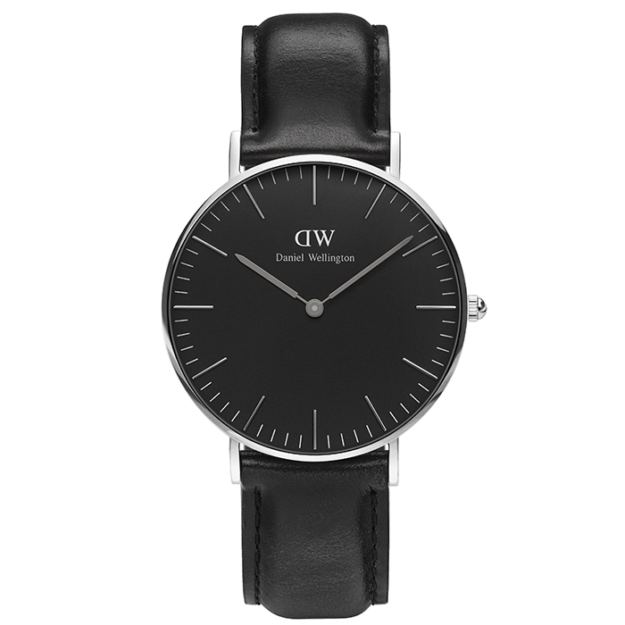 Daniel Wellington Silver Black Edition Classic Sheffield DW00100145 DW00100145 Ατσάλι