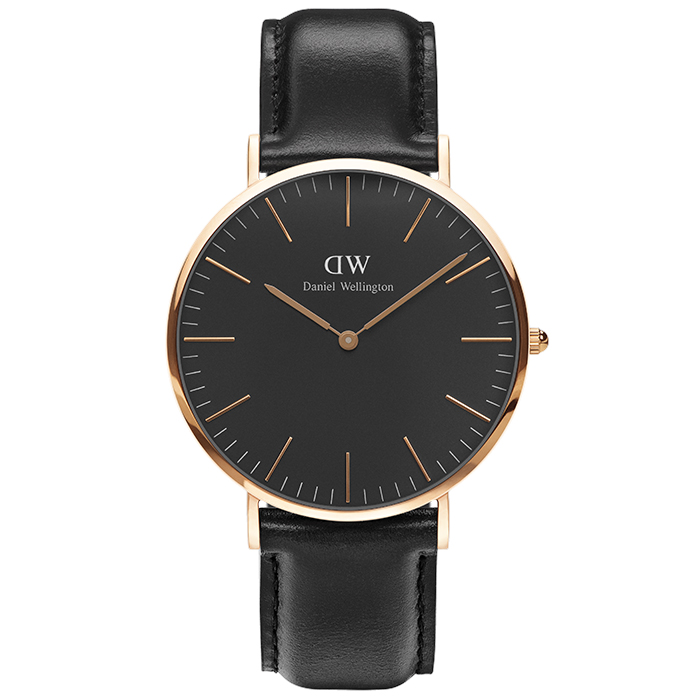 Daniel Wellington Black Edition Classic Sheffield Rose gold DW00100127 DW00100127 Ατσάλι