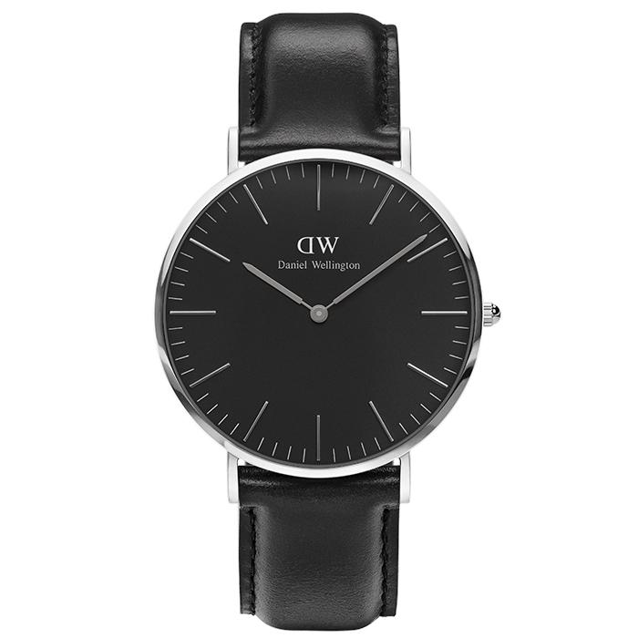Daniel Wellington ρολόι Black Edition Classic Sheffield Silver DW00100133 DW00100133 Ατσάλι