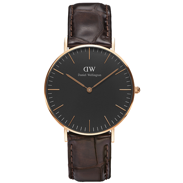 Daniel Wellington ρολόι Black Edition Classic York rose gold DW00100140 DW00100140 Ατσάλι