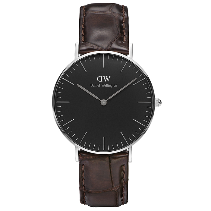 Daniel Wellington Silver Black Edition Classic York 36,00mm DW00100146 DW00100146 Ατσάλι