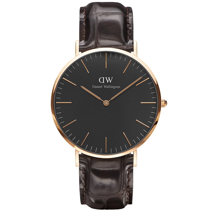 Daniel Wellington Black Edition Classic York rose gold 40,00mm DW00100128 DW00100128 Ατσάλι
