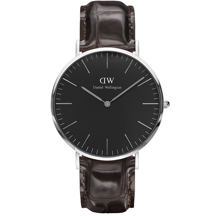 Daniel Wellington Black Edition Silver Classic York 40,00mm DW00100134 DW00100134 Ατσάλι