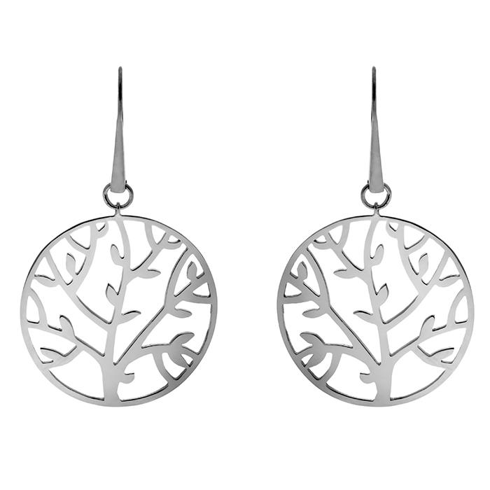 Σκουλαρίκια ασημένια Tree of life E5 E5 Ασήμι fashion jewels honor σκουλαρίκια