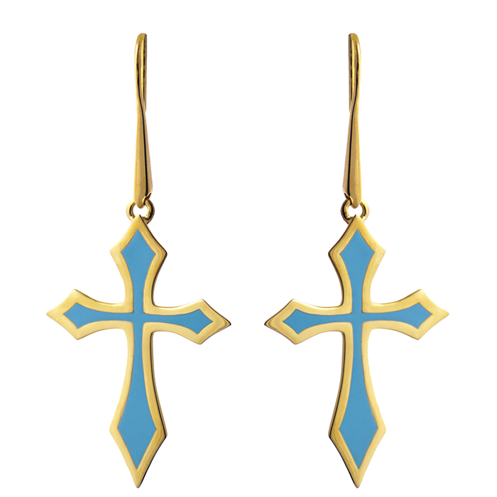 Σκουλαρίκια Cross Fight collection E14 E14 Ορείχαλκος fashion jewels honor σκουλαρίκια