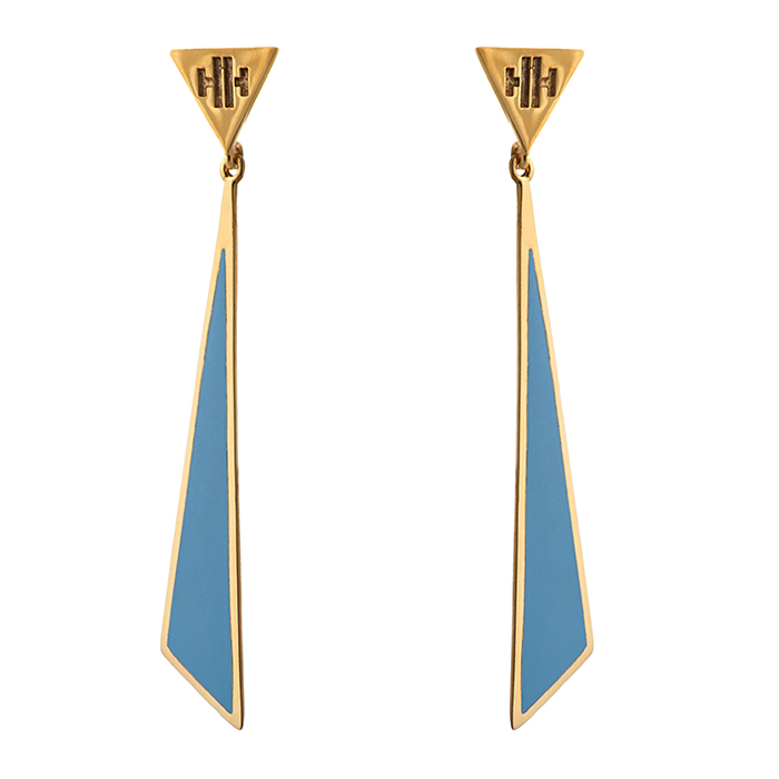 Earrings Triangle Honor E18 E18 Ορείχαλκος
