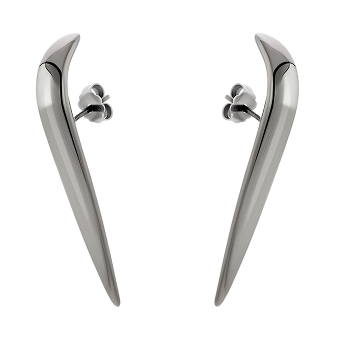 Nails earcuff earrings E29 E29 Ασήμι