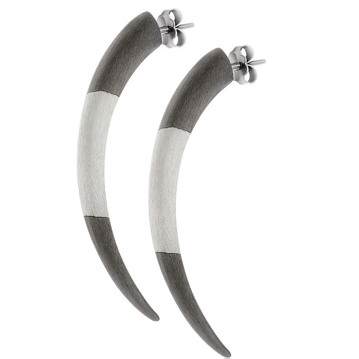 Σκουλαρίκια Tiger Clows Black E33 E33 Ασήμι fashion jewels honor σκουλαρίκια