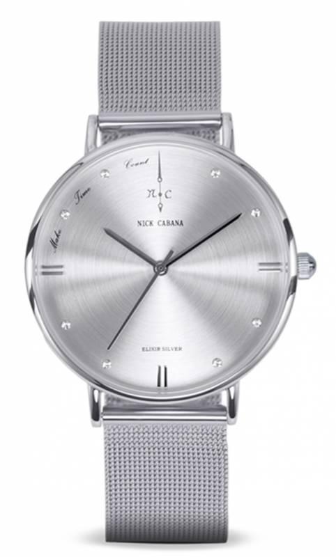 Ρολόι Nick Cabana Elixir petite silver NC131 NC131 Ατσάλι