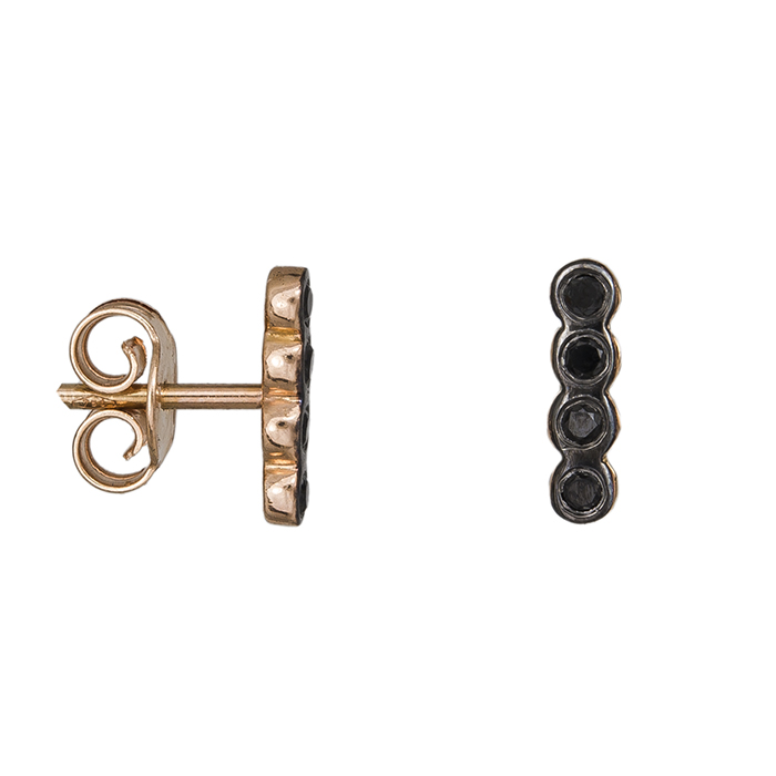 Ροζ gold σκουλαρίκια Honor Omano Κ18 GE003PDB GE003PDB Χρυσός 18 Καράτια