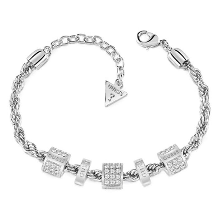 Βραχιόλι Guess με πέτρες UBB84092-L UBB84092-L Ορείχαλκος fashion jewels guess bραχιόλια