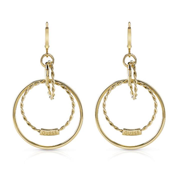 Γυναικεία σκουλαρίκια διπλοί κρίκοι Guess UBE84048 UBE84048 Ορείχαλκος