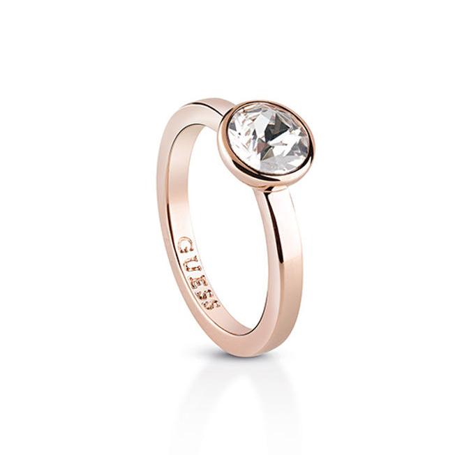 Ροζ gold δαχτυλίδι Guess μονόπετρο UBR83033-54 UBR83033-54 Ορείχαλκος fashion jewels guess δαχτυλίδια