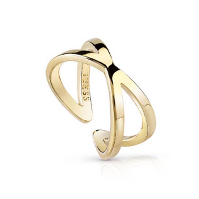 Επίχρυσο δαχτυλίδι Guess UBR84005-54 UBR84005-54 Ορείχαλκος