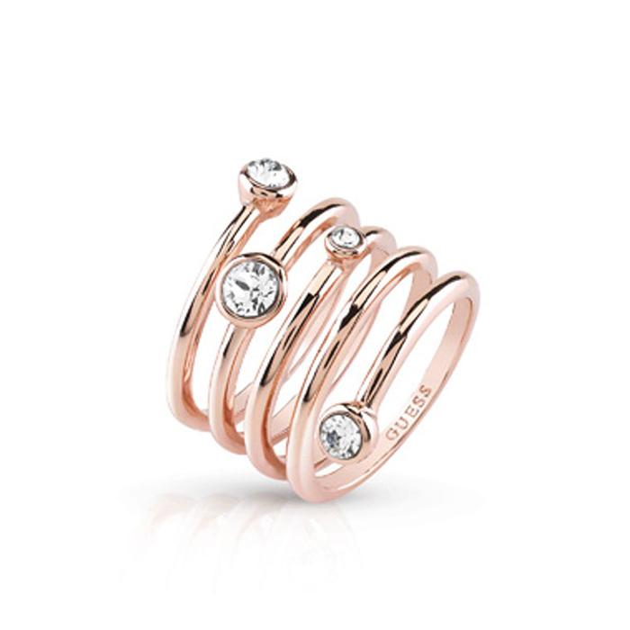 Ροζ gold δαχτυλίδι Guess UBR84057-54 UBR84057-54 Ορείχαλκος fashion jewels guess δαχτυλίδια