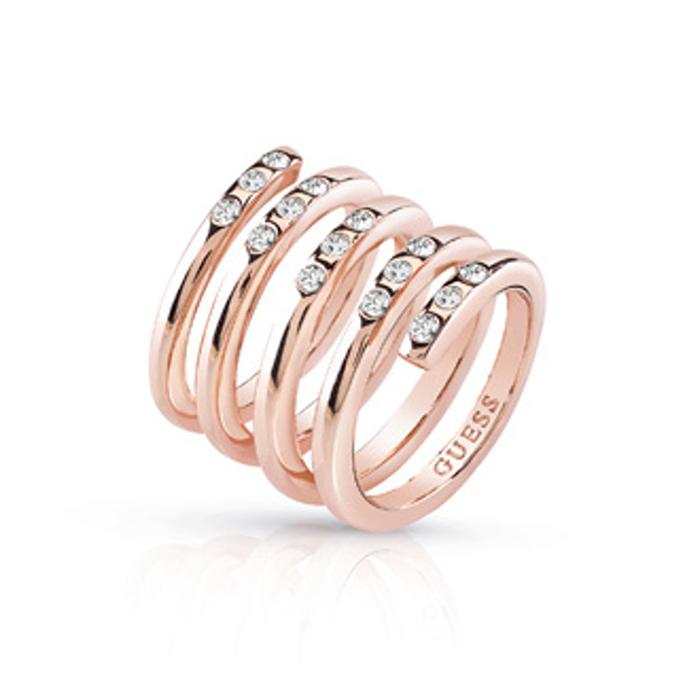 Γυναικείο δαχτυλίδι Guess UBR84061-54 UBR84061-54 Ορείχαλκος fashion jewels guess δαχτυλίδια