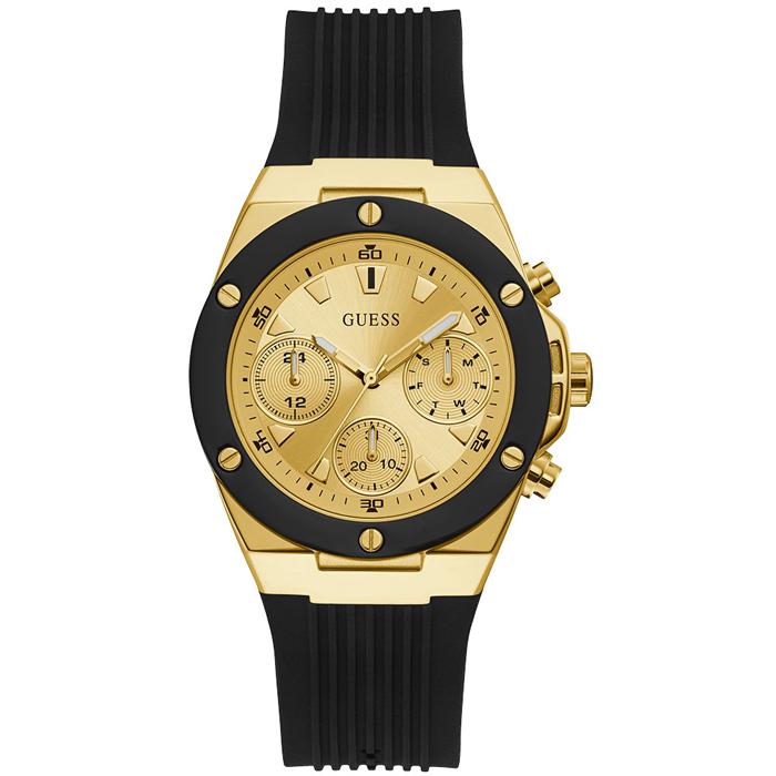 Γυναικείο ρολόι Guess Black Rubber Strap GW0030L2 GW0030L2 Ατσάλι