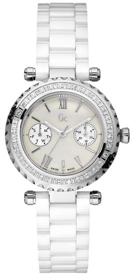 GC White Ceramic Ρολόι I01200L1 Ατσάλι