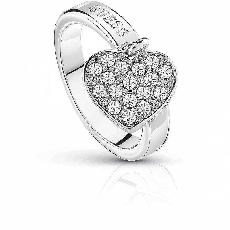 Γυναικείο δαχτυλίδι Guess με κρεμαστή καρδούλα UBR84016-54 UBR84016-54 Ορείχαλκο fashion jewels guess δαχτυλίδια