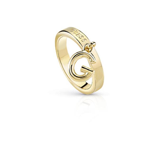 Επίχρυσο δαχτυλίδι με charm Guess UBR84019-54 UBR84019-54 Ορείχαλκος fashion jewels guess δαχτυλίδια