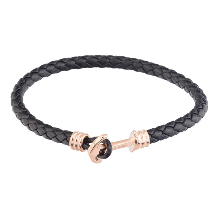 Black Leather Bracelet US POLO JW9086BR JW9086BR Ατσάλι