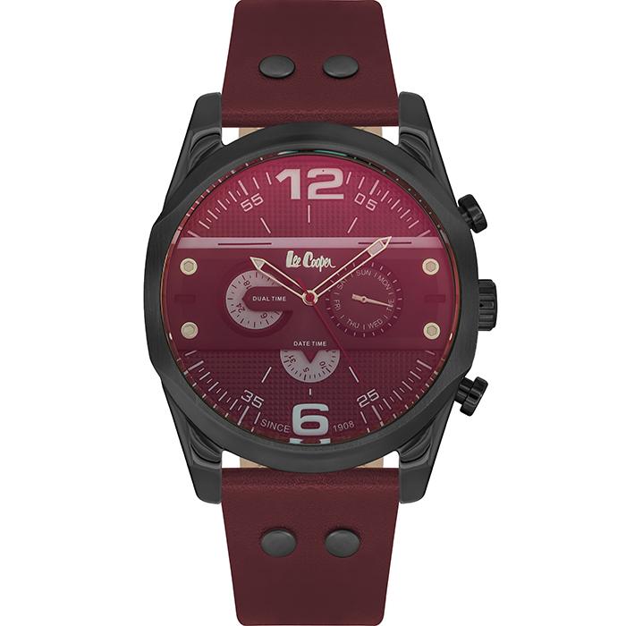 Ρολόι Lee Cooper men's Bordeaux Leather Strap LC06176.658 LC06176.658