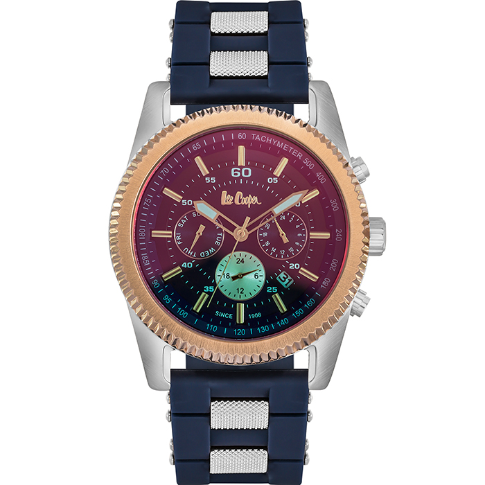 Lee cooper ρολόι Blue Rubber strap LC06189.599 LC06189.599