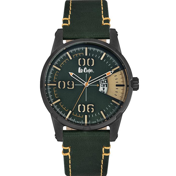 Ρολόι Lee Cooper men's Green Leather Strap LC06195.655 LC06195.655