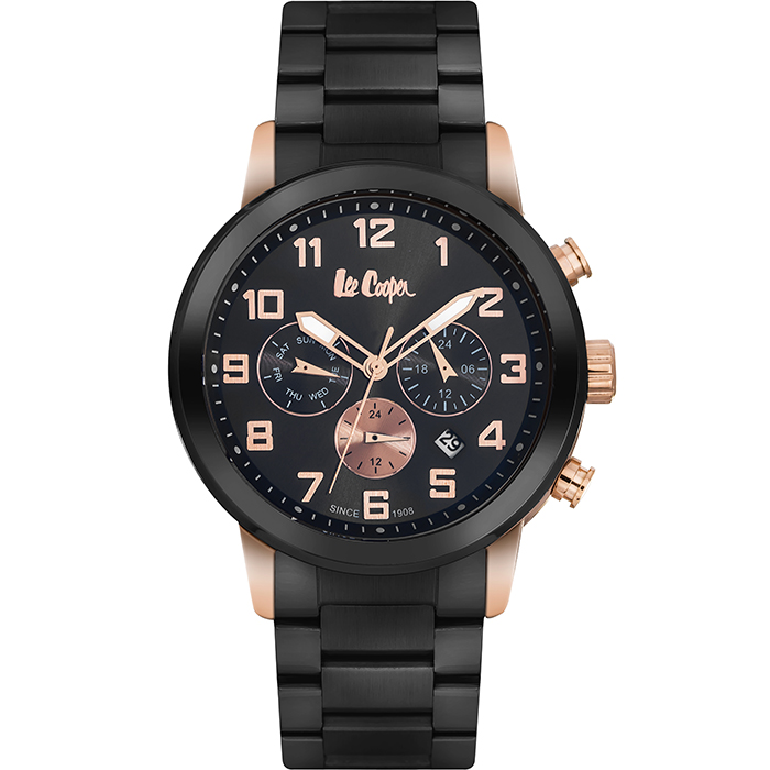 Lee cooper multifunction Black bracelet LC06219.850 LC06219.850 Ατσάλι