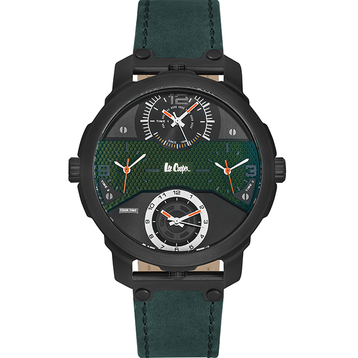 Lee cooper men's Green leather strap LC06222.675 LC06222.675