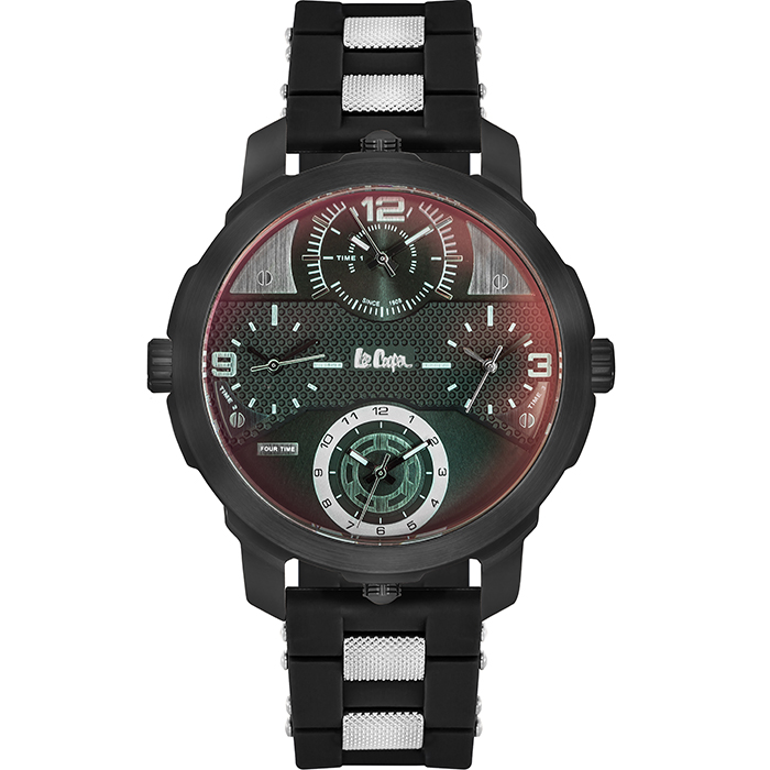 Lee cooper men's Black Rubber strap LC06223.651 LC06223.651