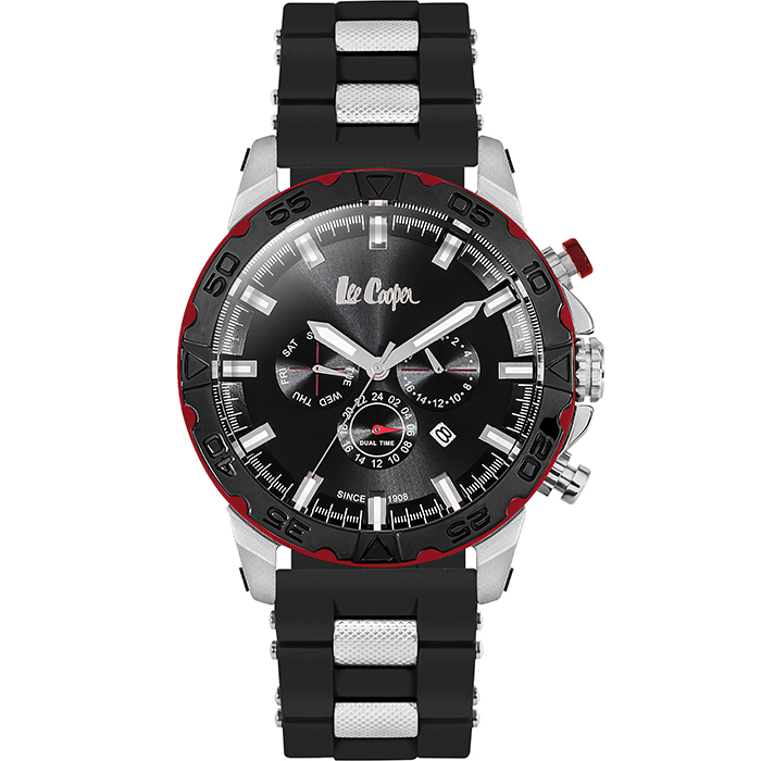 Αντρικό ρολόι Lee cooper Black Rubber strap LC06238.351 LC06238.351