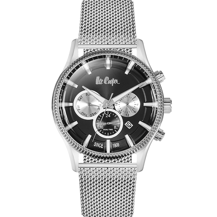 LEE COOPER αντρικό ρολόι Silver - Black LC06245.350 LC06245.350