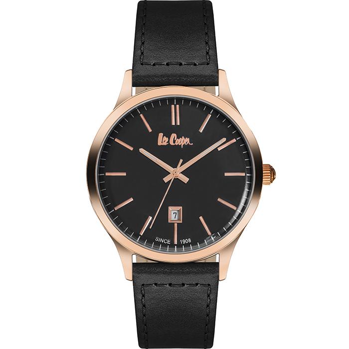 Αντρικό ρολόι Lee cooper Black Leather strap LC06290.451 LC06290.451