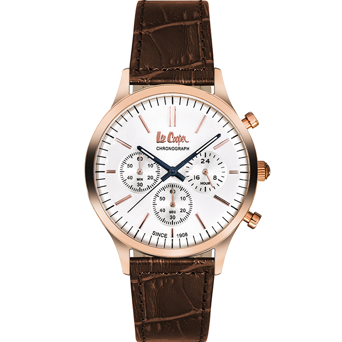 Lee cooper Brown leather strap chronograph LC06293.434 LC06293.434