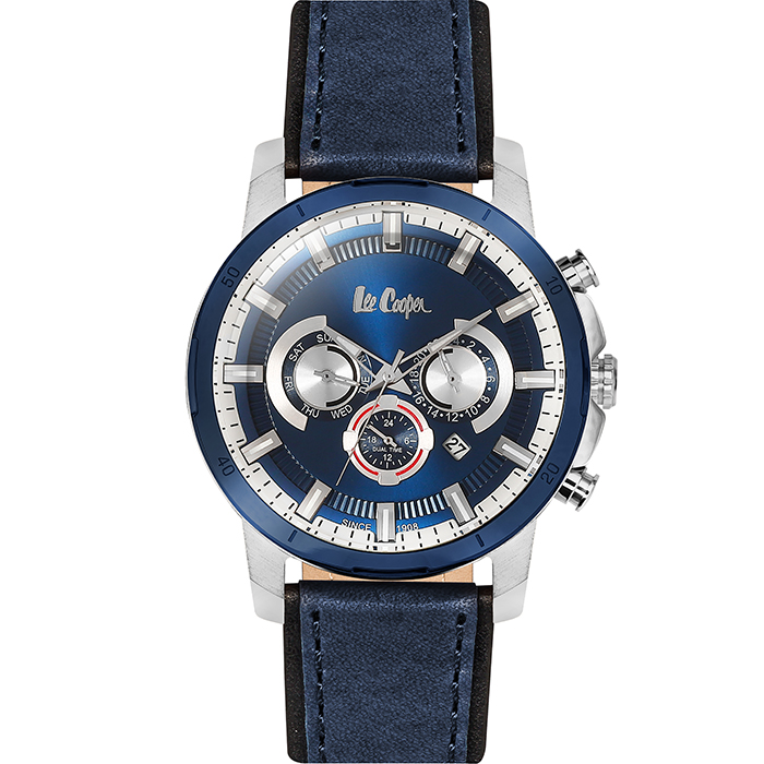 Lee Cooper Blue Leather Strap LC06308.399 LC06308.399