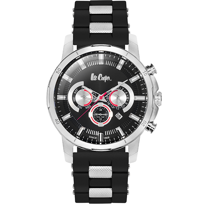 Ρολόι χειρός Lee cooper Black Rubber Strap LC06309.351 LC06309.351