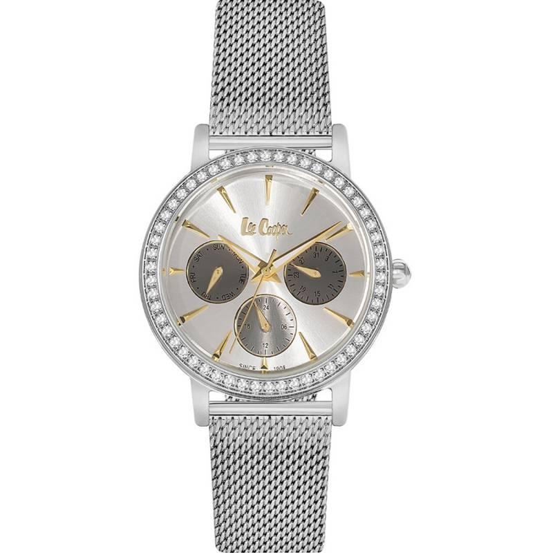 Lee Cooper Ladies Crystals Silver Metal Bracelet LC06348.330 LC06348.330