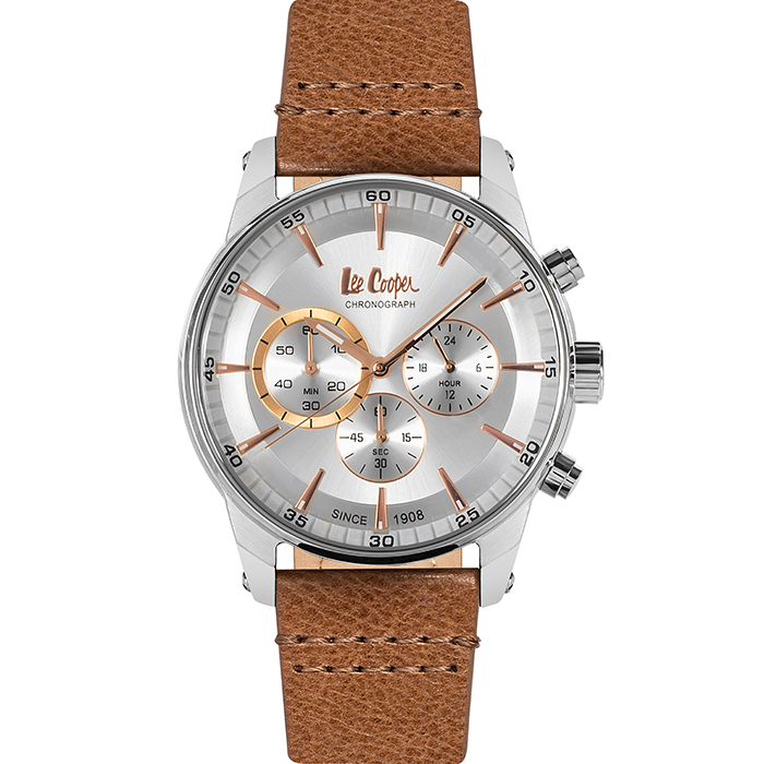 Lee cooper Brown leather strap chronograph LC06361.332 LC06361.332