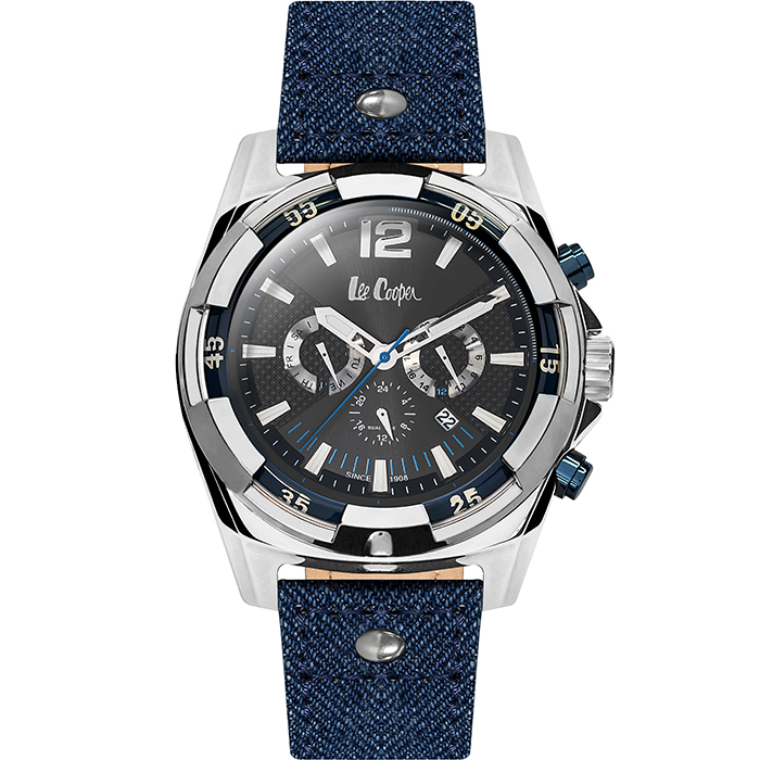 Lee cooper αντρικό ρολόι Blue leather strap LC06364.359 LC06364.359