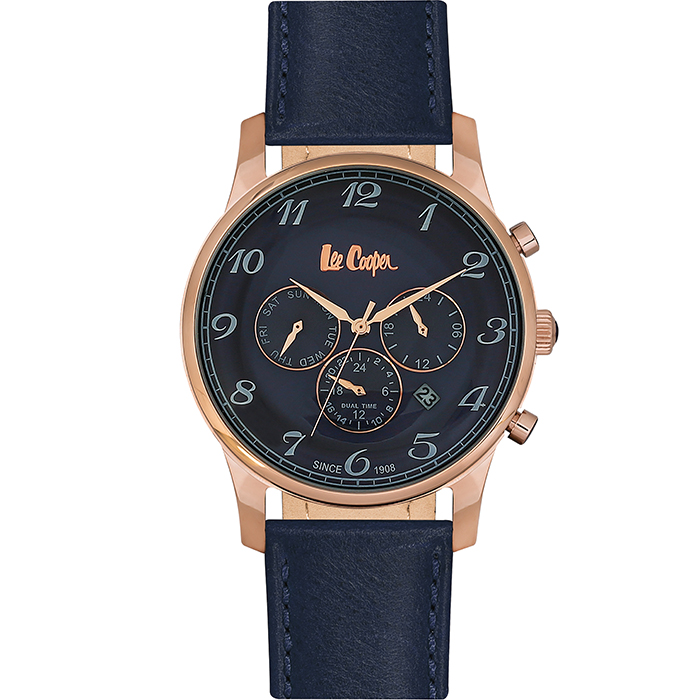 Lee Cooper Multifunction Blue Leather strap LC06425.499 LC06425.499