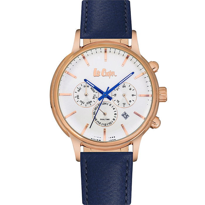 Lee Cooper Multifunction Blue Leather strap LC06429.439 LC06429.439