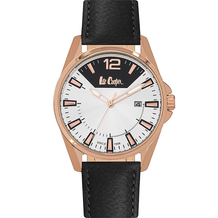 Lee Cooper Black Leather strap LC06438.431 LC06438.431