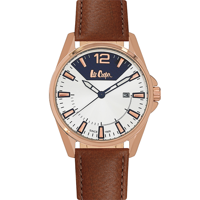 Lee Cooper Brown Leather strap LC06438.435 LC06438.435