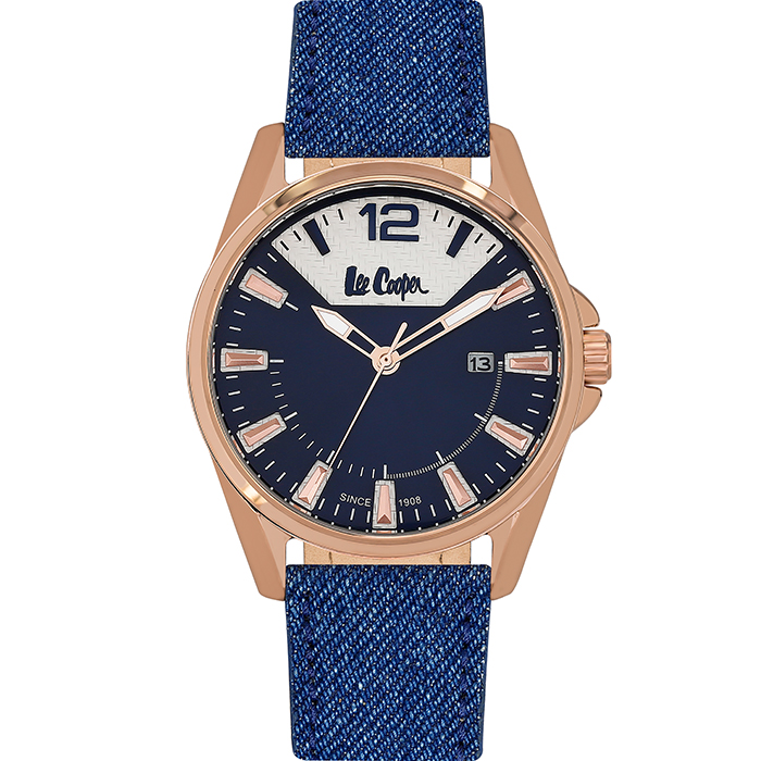 Lee Cooper ρολόι BLue Leather strap LC06438.499 LC06438.499
