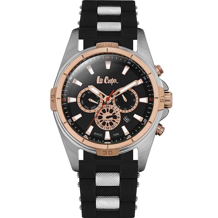 Lee cooper ρολόι Black Rubber strap LC06443.531 LC06443.531