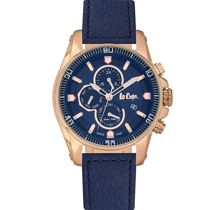 Lee cooper BLue Leather Strap αντρικό ρολόι LC06446.499 LC06446.499