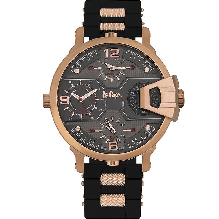 Αντρικό ρολόι Multifunction Black Rubber Strap LC06449.451 LC06449.451