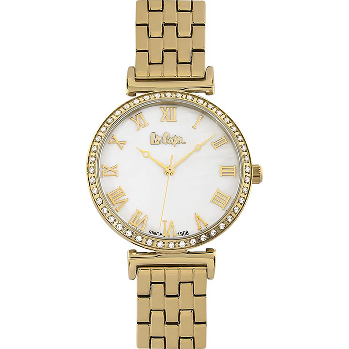 Επίχρυσο ρολόι Lee Cooper με πέτρες LC06562.120 LC06562.120 Ατσάλι